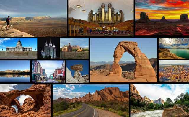 Utah Luxury Tour Destinations Collage